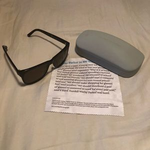 Warby Parker Lowry gender neutral sunglasses.